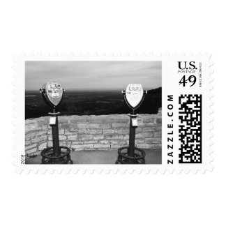 Thacher Park, NY Black and White Postal Stamps