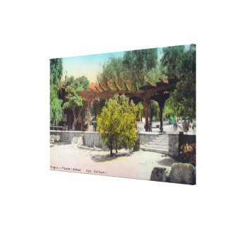 Thacher School Pergola ViewOjai, CA Stretched Canvas Print
