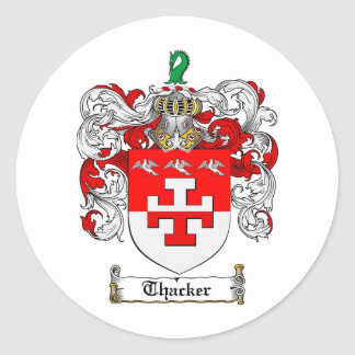 Thacker Family Crest - Thacker Coat of Arms Classic Round Sticker