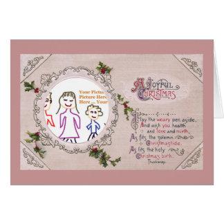 Thackeray Christmas Verse Frame Greeting Card