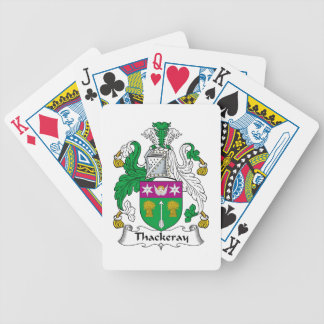 Thackeray Family Crest Bicycle Poker Deck