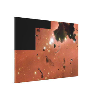 Thackeray's Globules- Dense, Opaque Dust Clouds Canvas Print