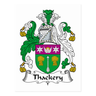 Thackery Family Crest Postcard