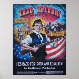 Thad devuelve el poster