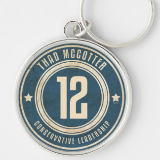 Thad McCotter Silver-Colored Round Keychain