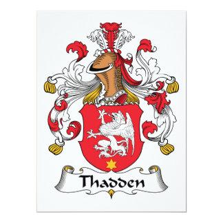Thadden Family Crest Card