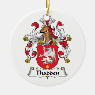 Thadden Family Crest Double-Sided Ceramic Round Christmas Ornament