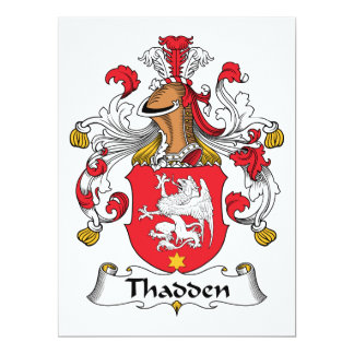 Thadden Family Crest 6.5x8.75 Paper Invitation Card