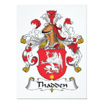 Thadden Family Crest Personalized Invitations