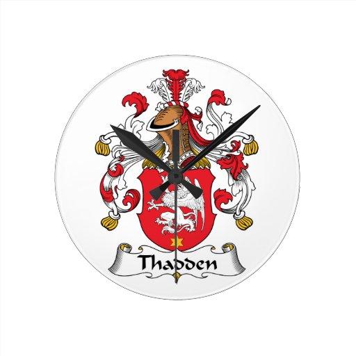 Thadden Family Crest Round Wallclock