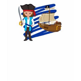 Thaddeus and His Ship -Boys T-shirt shirt