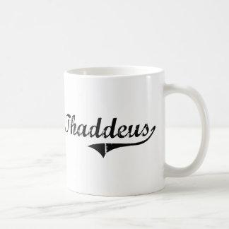 Thaddeus Classic Style Name Classic White Coffee Mug