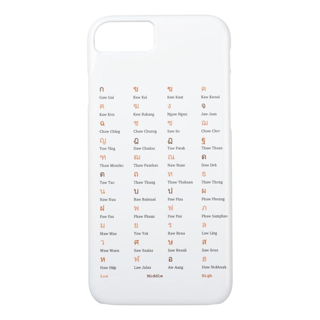Thai Alphabet Consonant Class Phone Case