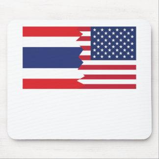 Thai American Flag Mouse Pad