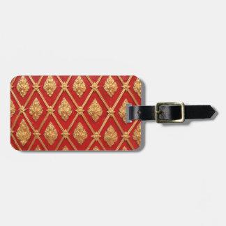 Thai art pattern luggage tag