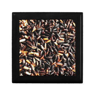 Thai black rice. jewelry boxes