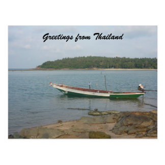 thai boat greetings postcard