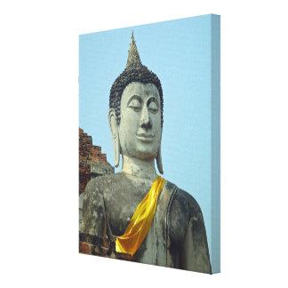 Thai Buddha Ayutthaya Thailand Wrapped Canvas Canvas Print