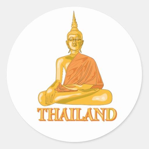 Thai Buddha Classic Round Sticker
