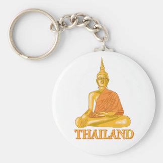 Thai Buddha Keychain