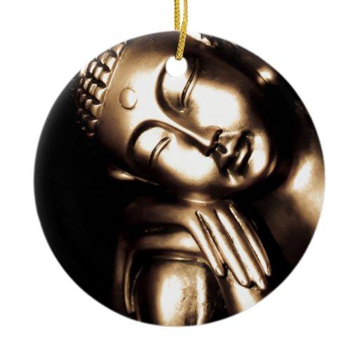 Thai Buddha Wisdom. Ceramic Ornament