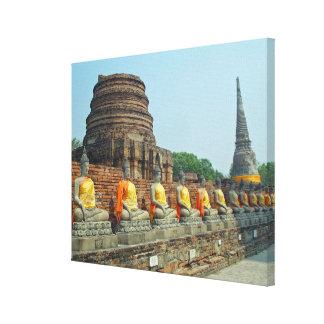 Thai Buddhas Ayutthaya Thailand Wrapped Canvas Gallery Wrap Canvas
