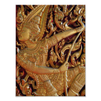 Thai Buddhist Temple Detail Posters