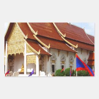 Thai Buddhist Temple Rectangular Sticker