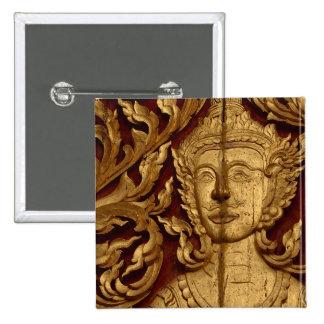 Thai Buddhist Temple Statue Photo Button