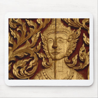 Thai Buddhist Temple Statue Photo Mouse Pad