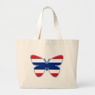 Thai Butterfly Flag Jumbo Tote Bag