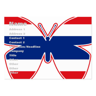 Thai Butterfly Flag Large Business Cards (Pack Of 100)