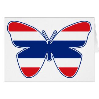 Thai Butterfly Flag Card