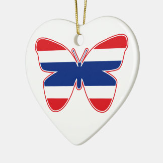 Thai Butterfly Flag Ceramic Ornament