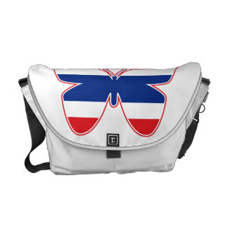 Thai Butterfly Flag Courier Bag