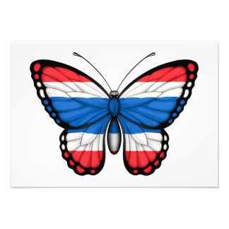 Thai Butterfly Flag Personalized Announcement