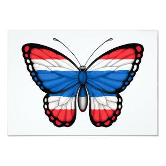 """Thai Butterfly Flag 3.5"""" X 5"""" Invitation Card"""
