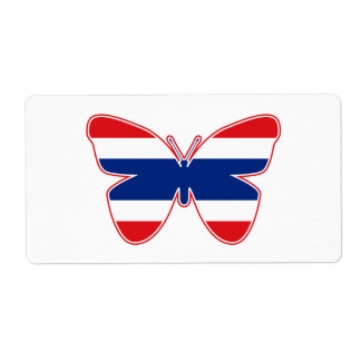 Thai Butterfly Flag Label