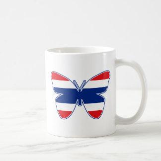 Thai Butterfly Flag Classic White Coffee Mug