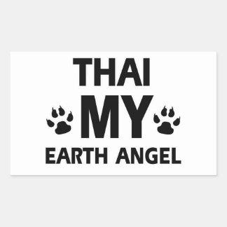 Thai cat design rectangular sticker