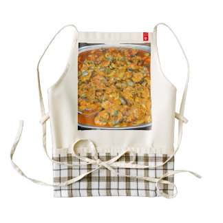 Thai curry zazzle HEART apron