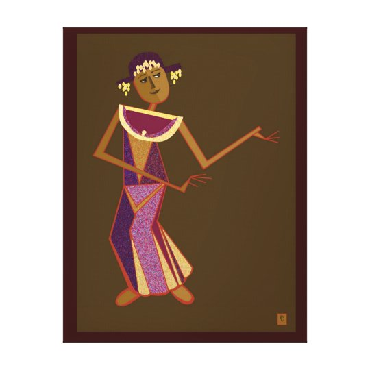 Thai dancer - lady canvas print
