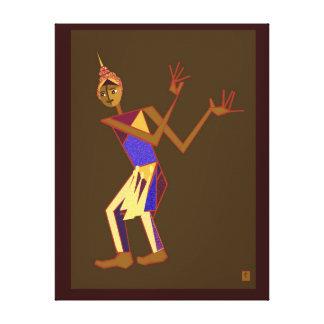 Thai dancer - man gallery wrapped canvas