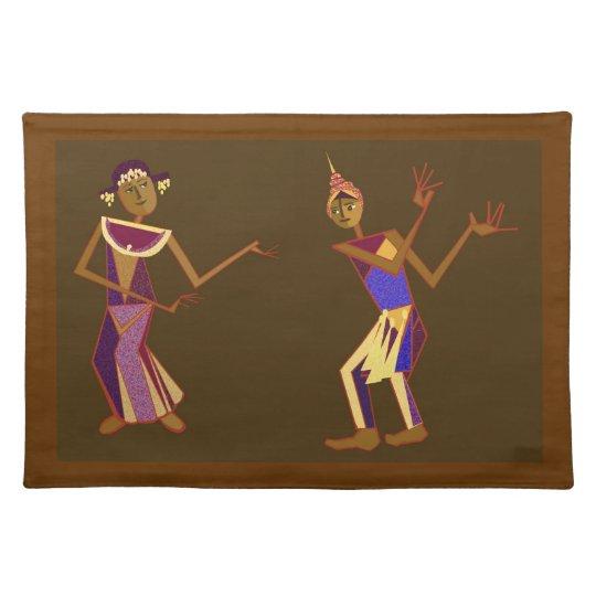 Thai dancers cloth placemat
