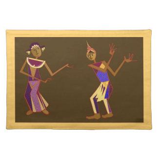 Thai dancers placemat