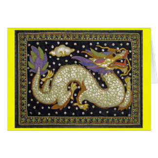 Thai Dragon Tapestry Blank Greeting Card