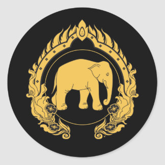 Thai Elephant Classic Round Sticker