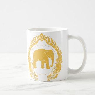 Thai Elephant Classic White Coffee Mug