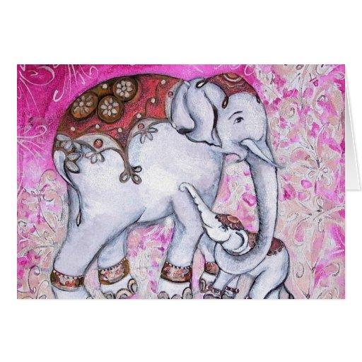 THAI ELEPHANTS CARD