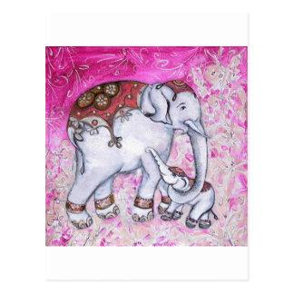 THAI ELEPHANTS POSTCARD